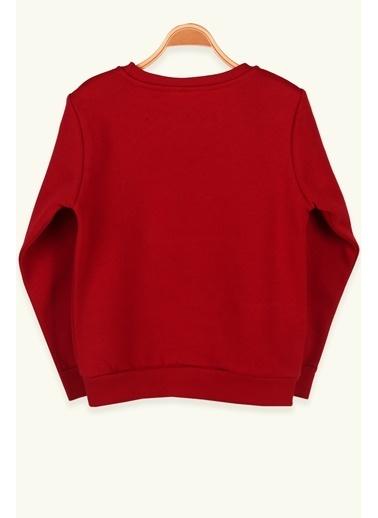 Breeze Erkek Çocuk Sweatshirt Baskılı Kırmızı (8-14 Yaş) Kırmızı